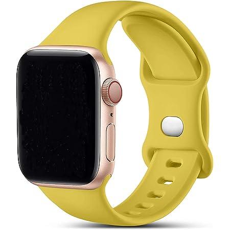 VIKATech Correa de Repuesto Compatible con Apple Watch Correa 40mm 38mm 44mm 42mm, Correa de Silicona Suave de Repuesto para iWatch Series 6/SE/5/4/3/2/1