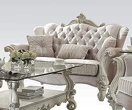 ACME Versailles Ivory Velvet Loveseat with 3 Pillows