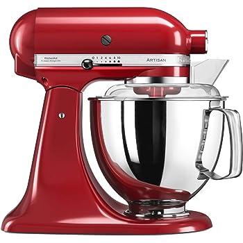 KitchenAid Artisan 5KSM175PS Robot de cocina (4,8 L, Rojo, palanca, 220 RPM, Acero inoxidable, 300 W): Amazon.es: Hogar