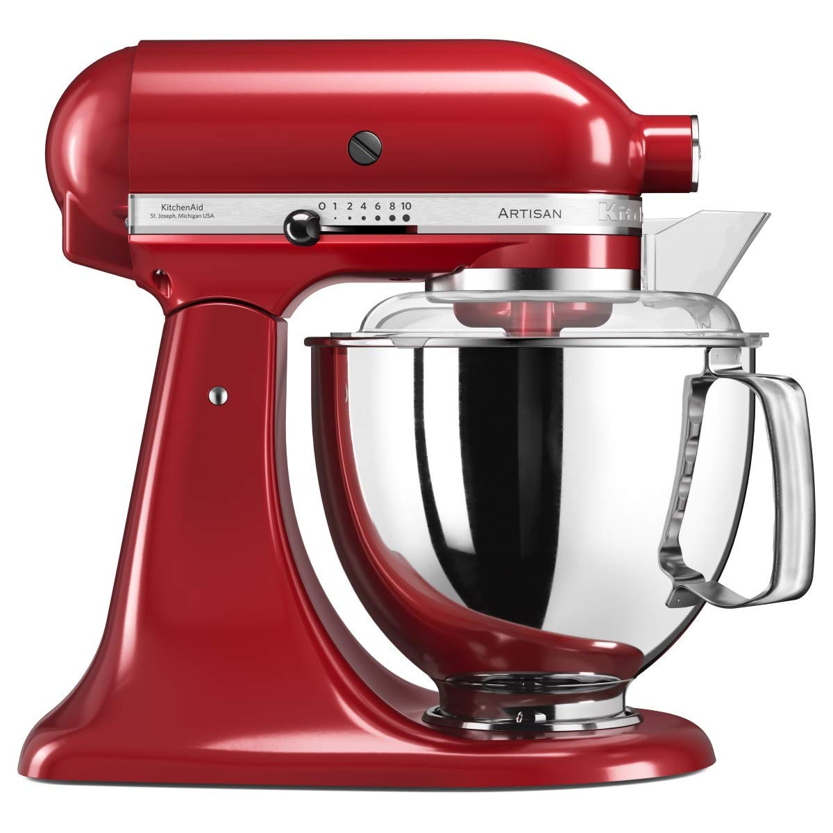 KitchenAid Artisan 5KSM175PS Robot de cocina (4, 8 L, Rojo, palanca, 220 RPM, Acero inoxidable, 300 W): Amazon.es
