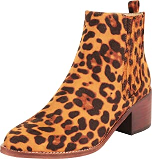 Cambridge Select Women's Western Pointed Toe Stretch Chunky Block Mid Heel Ankle Bootie