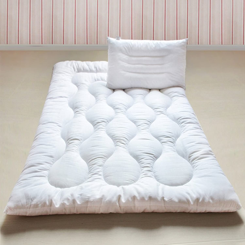 Cotton Bed Mattress Mattress Topper Mattress pad, Tatami Floor Mattress Bed mat Quilted Fitted Futon mats Matt mat Sleeping pad Foldable Thicken Not stuffy-B 120x200cm(47x79inch)