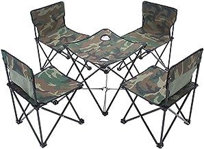 DX Folding Camping Table, Ultralight picknick strandtafel en stoel combinatie outdoor mini opvouwbaar en draagbaar kan wor...