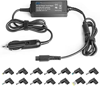 KFD Universal Input DC12V-24V Laptop in Car Charger Vehicle Adapter for HP Pavilion Compaq Dell Acer Asus Vizio MSI Lenovo IBM Toshiba Samsung Sony LG Fujitsu Gateway Notebook Ultrabook with 14 Tips