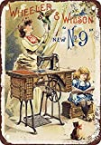 WallAdorn - Póster de máquina de Coser de Hierro para Pintar, decoración de Pared Vintage para cafetería, Bar, Pub,...