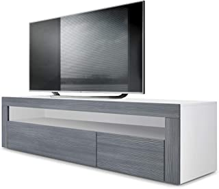 Amazon Fr Meuble Tv Angle Blanc