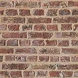 Papier peint brique pierre imitation Tapisserie couloir 302191 30219-1 Lutèce Authentic Walls | Beige/crème/Marron/Rouge | Rouleau (10,05 x 0,53 m) = 5,33 m²