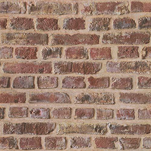 Rote Backstein Tapete 30219-1 | Preiswerte Tapete für Wohn- und Esszimmer Industrielle Ziegel Tapete | Lutèce Wallpaper