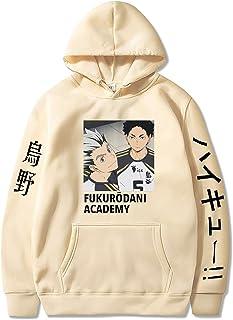 keepmore Felpe con Cappuccio Haikyuu Unisex Japan Anime Haikyuu Fukurodani Academy Akaashi Keiji Stampa Felpe con Cappucci...