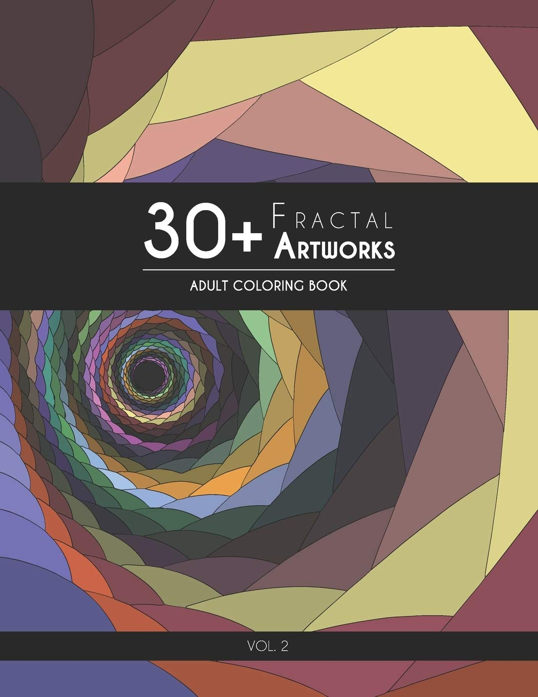 Image Of30+ Fractal Artworks: Adult Coloring Book – Vol.2