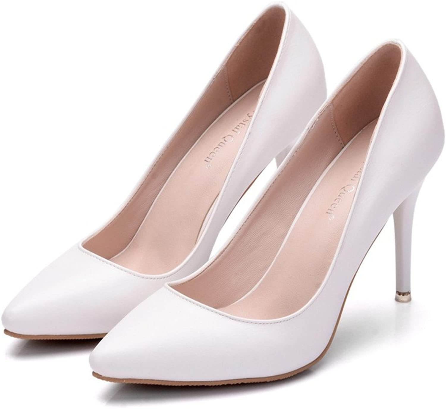HYP Wedding Women shoes Wedding shoes Women Pumps Closed Toe Wedding Party Court shoes Bridesmaid Bridal shoes Tip high-Heeled Single shoes