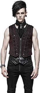 Punk Rave Men's Single Breasted V-Neck Vest Gothic Steampunk Dress Suit Waistcoat