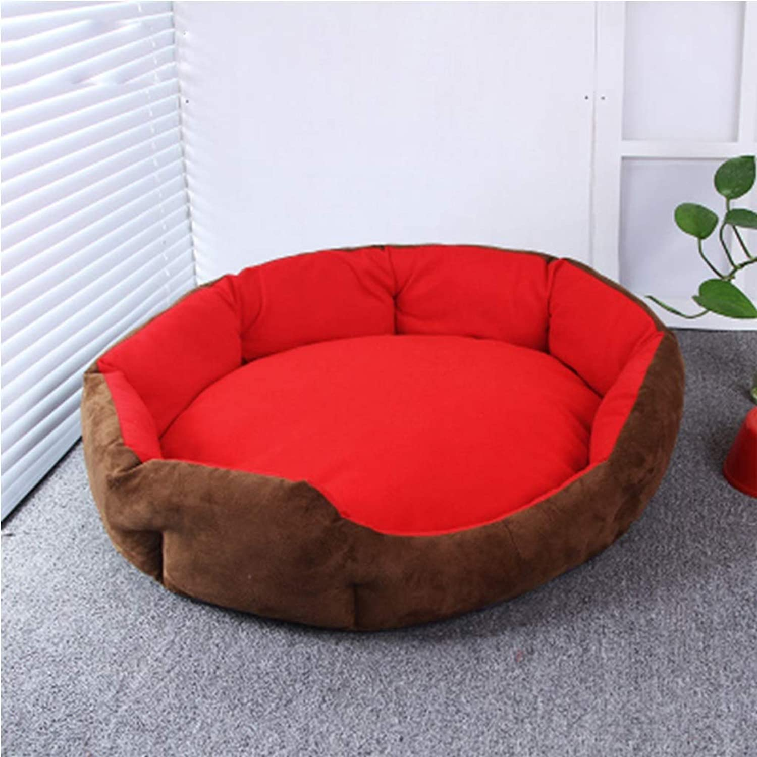 Dogs Beds Furniture Bed Blankets Pet Products, Kennels, Removable and Washable, Four Seasons, Pet nest, Cat Litter, Small Dog Kennel, Dog Bed, Dog House, Cushion (color   Red, Size   L)