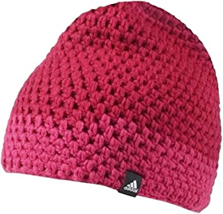 adidas Performance Women's Crochet Chunky Knit Beanie Hat - Pink