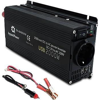 luyuanipower 850 W//2000 W potencia m/áxima inversor DC 12 V a AC 220V 230V 240V convertidor adaptador