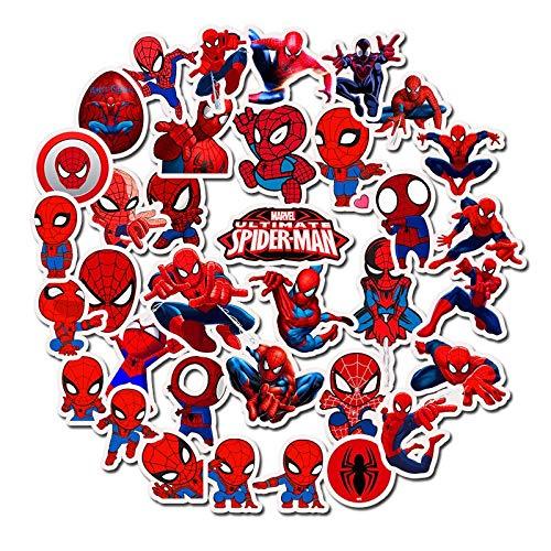 LSPLSP Hero Superman Pegatinas Spiderman Graffiti impermeable Skateboard Pegatina Personalizada Maleta Graffiti Graffiti 35pcs