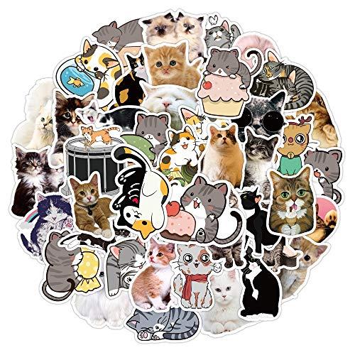 YZFCL Avai Cat Sticker Skateboard Laptop Refrigerator Helmet Doodle Suitcase Bottle Cute Sticker Girl Cartoon Cat Decal 50pcs