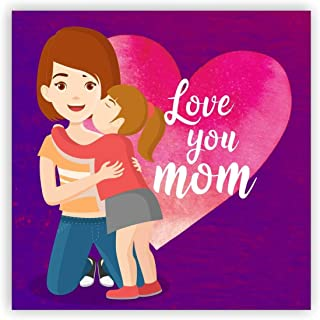 TheYaYaCafe for Mother Printed (Square) Acrylic Fridge Magnet - Love You Mom