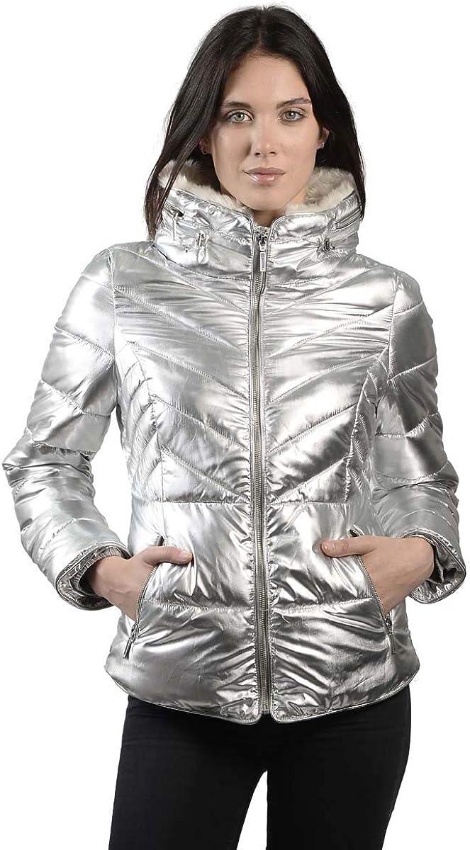 Anna Cai Metallic Puffer Jacket