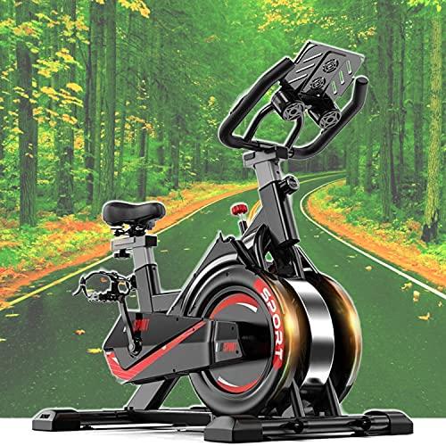 Bicicleta estática Ciclo Indoor. Bici spinning, Volante de Inercia, Nivel Avanzado, Sistema de Absorción de Impactos, Sillín ajustable acolchado, pulsómetro,Pantalla LCD, Fitness