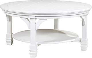 Ashley Furniture Signature Design - Mintville Contemporary Round Cocktail Table - White