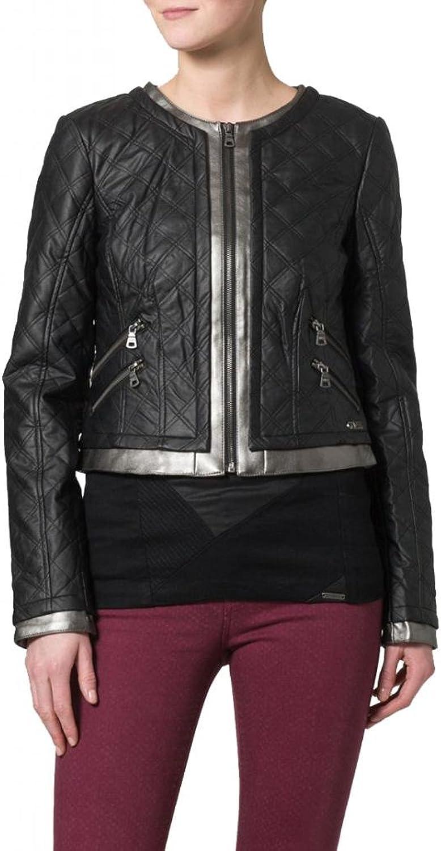 Leather Women's Lambskin Leather Bomber Biker Jacket W071