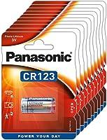 Panasonic CR123 cylindriskt litiumbatteri för lätta enheter med hög effektförbrukning som röklarm, inbrottslarm,...
