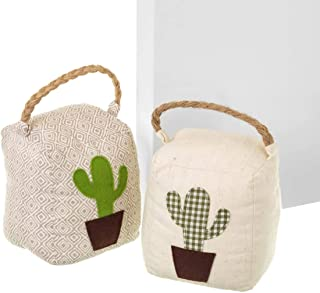 Dcasa - Set 2 sujetapuertas original cactus de tela/arena