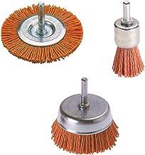 Wolfcraft 2741000 nylon borstels met ronde schacht, diameter 6 mm, 3 stuks