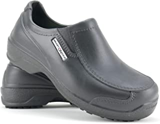 SMART ON GRIP Safety Toe Cap Shoes for Women - Non Slip Waterproof Professional Composite Toe Cap Shoes