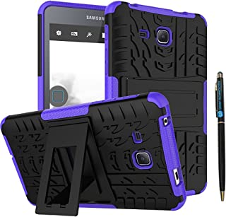 Tab A 7.0 Inch Heavy Duty Case DWaybox 2in1 Combo Hybrid Rugged Armor Back Case Cover with Kickstand for Samsung Galaxy Tab A 7 Inch 2016 SM-T280 / T285 / Samsung Tab A6 A7 7.0