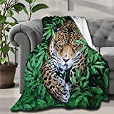 Ferocious Tiger Blanket Soft and Lightweight Flannel Throw Suitable for Use in Bed, Living Room and Travel for Kid 50x60 Inch