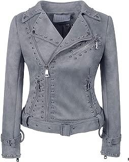 DISSA P0235 Women Faux Leather Biker Jacket Slim Coat Leather Jacket