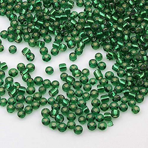 300 rocaille perles perles de verre 4mm bleu azur verre Beads bastelperlen 616