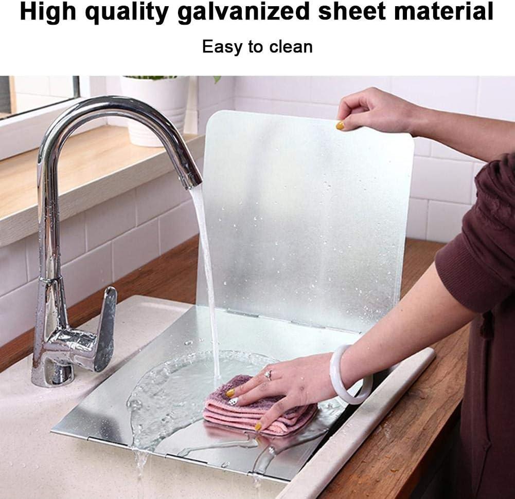 Kitchen Anti-Splatter Shield Guard Cooking Frying Pan Oil Splash Cover Anti-Splashing Oil Gas Stove Baffle Heat Insulation 3-Sided Splatter Shield Guard