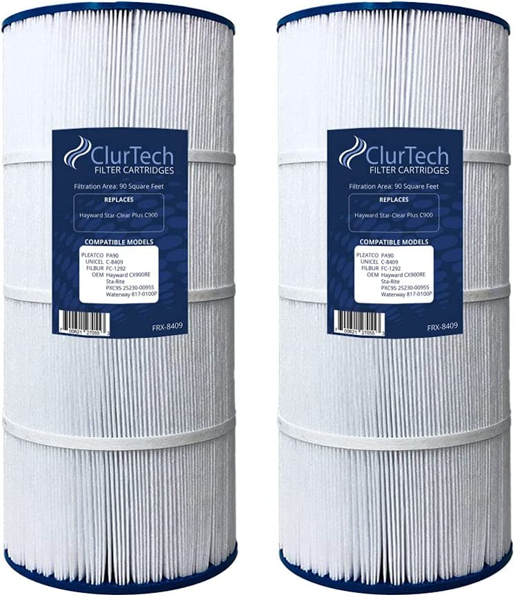 ClurTech FRX-8409-2 Replacement 2 Pack Star-Clear Plus Challenge the lowest price of Japan Max 47% OFF Hayward C