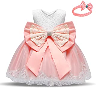 Babywearoutlet Little Girls Princess Dress Girls Fancy Party Costume Wedding Dress Tutu Frocks (pink, 90#)