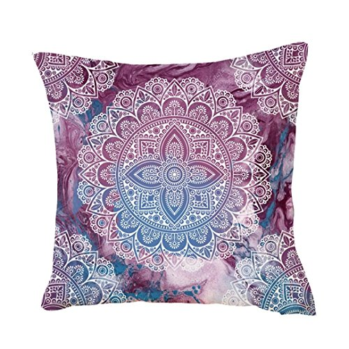 Kissenbezug 45 x 45 cm,LuckyGirls Exquisit Throw Taille Kissenhülle Sofa Home Decor Pillow Cover (B)
