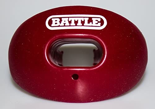 Battle Oxygen Lip Protector Mouthguard with Convertible Strap – Football and Sports Mouth Guard – Maximum Oxygen Supp...
