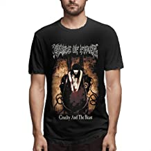 LIUNEWLJX Cradle of Filth Classic Design T-Shirt for Man Black