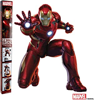 Marvel Iron Man Wall Decal - Augmented Reality Iron Man Wall Stickers For Kids Room - The Avengers Wall Decorations For Bedroom - Iron Man Room Wall Decor