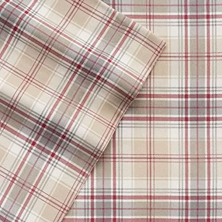 featured product Cuddl Duds Flannel Sheet Set - Khaki Plaid (Queen)