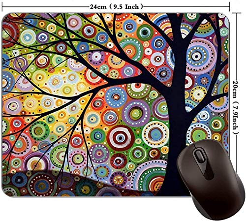 Watercolor Tree Mouse Pad Game Mouse Pad Computer Mouse Pad Office Mouse Pad Rectangular Non-Slip Mouse Pad