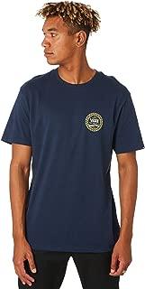 Vans Men's Checkered Side Stripe Mens Tee Crew Neck Short Sleeve Cotton Blue