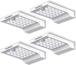 InnoGear 24 LED Solar Lights Dim to Bright Motion Sensor Outdoor Wall Light Security Light Night for Gutter Patio Garden Path, Pack of 4