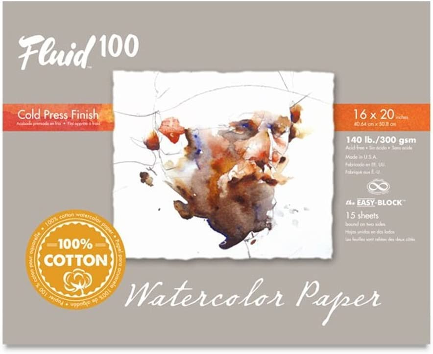 Fluid Limited Special Price 100 Watercolor Paper 811234 Popular product 140LB 100% Cold 1 Press Cotton