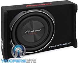 "Pioneer TS-SWX3002 12"" Shallow-Mount Pre-Loaded Enclosure, Black, Mini-v308"