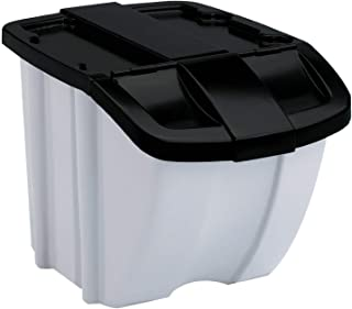 Suncast BH188810 18 Gallon Indoor or Stacking Recycle Storage Bin, (Open Box)