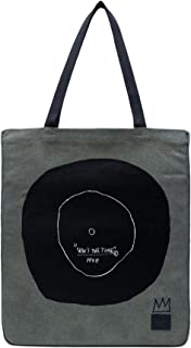 Herschel Jean-Michel Basquiat Now Is The Time Women Totebag Green 100% Enzyme Washed Cotton Canvas Cotton Webbing Carry Ha...
