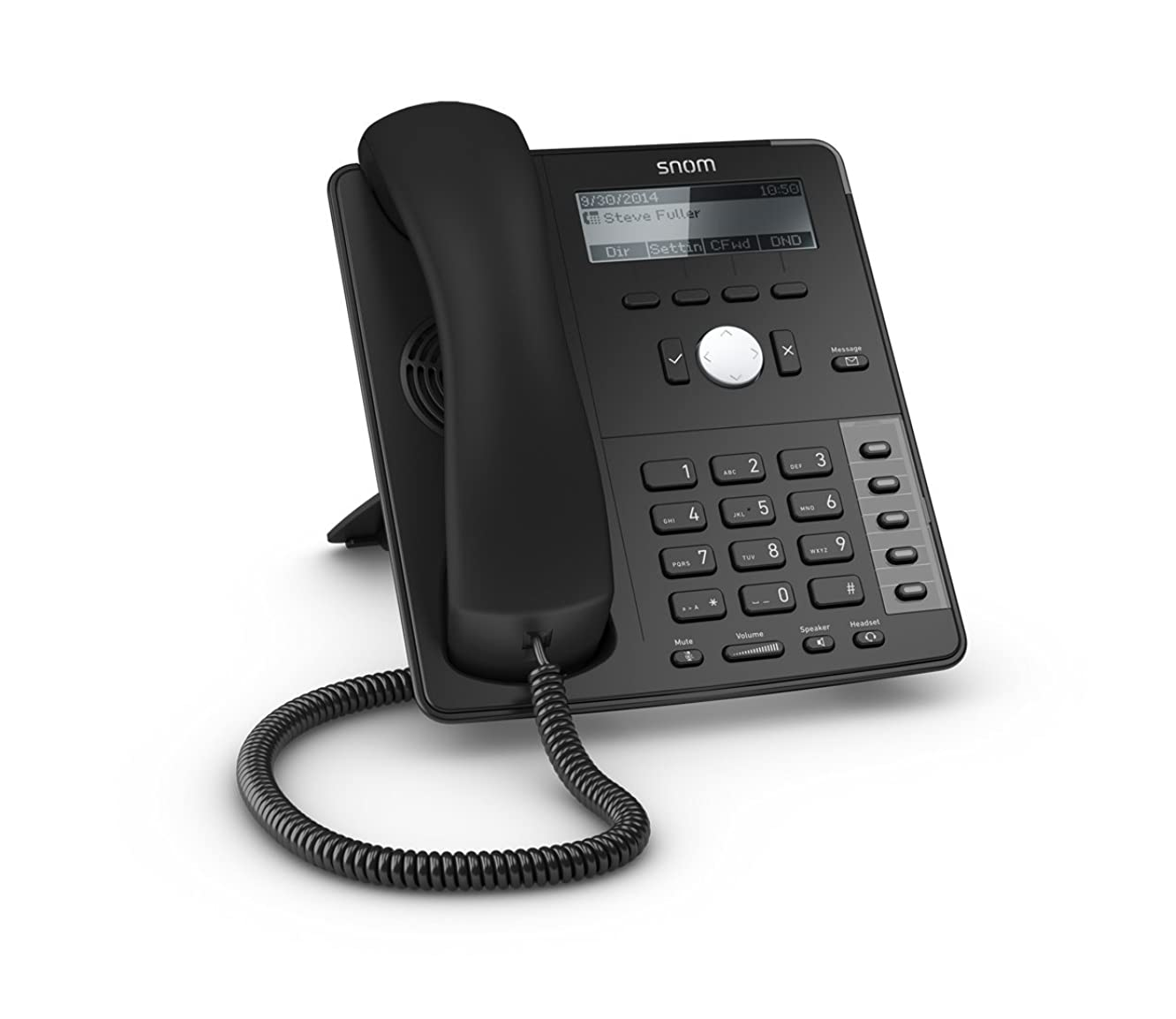 Snom SNO-D715 Professional Sip Desk Telephone Voip Phone and Device, Black